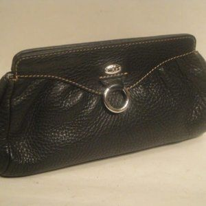 Cole Haan Black Leather Cosmetic Bag